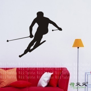 Free Shipping ice-sports Sports Ski roller skating Ice Dance Skate Scooter Wall Stickers Wall Decal Home Decor(China (Mainland))