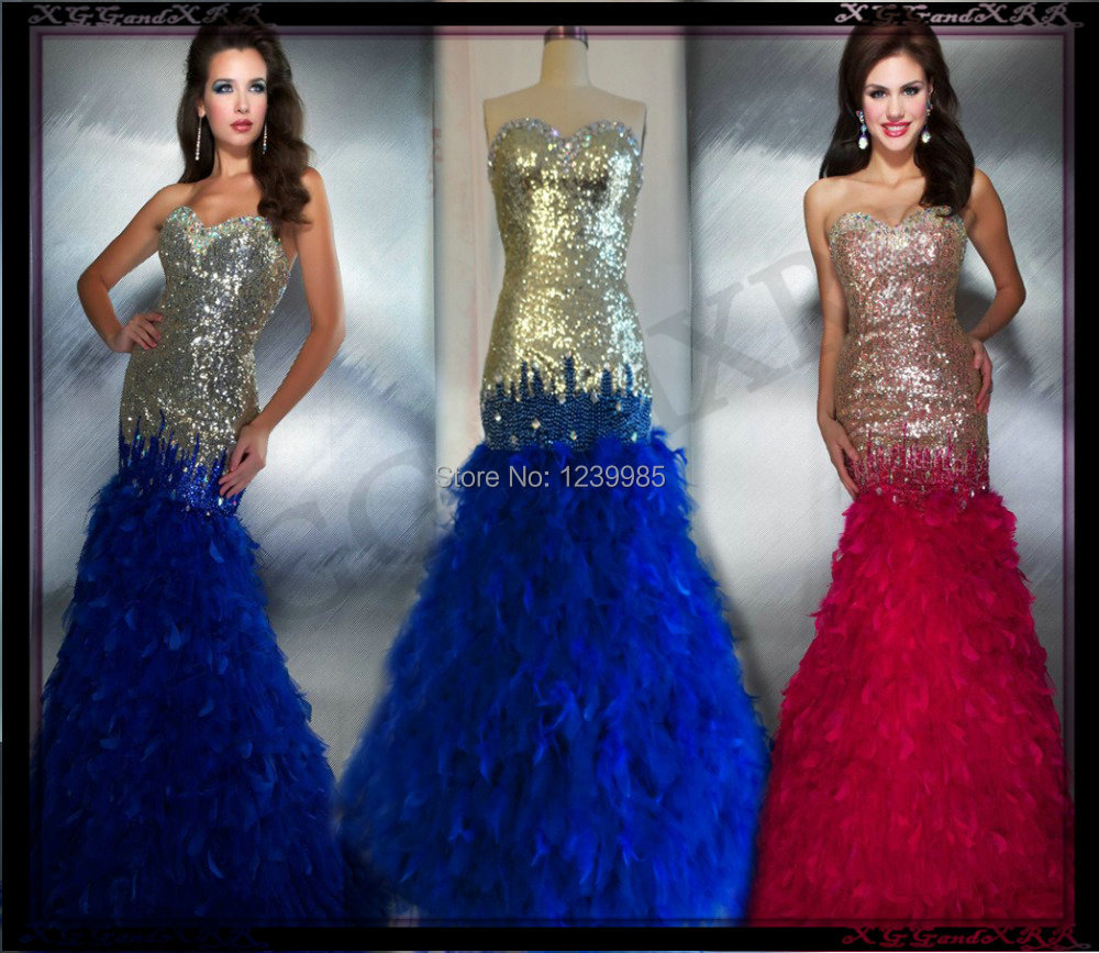 Long Prom Dresses With Feathers Prom-dresses-2013-feather