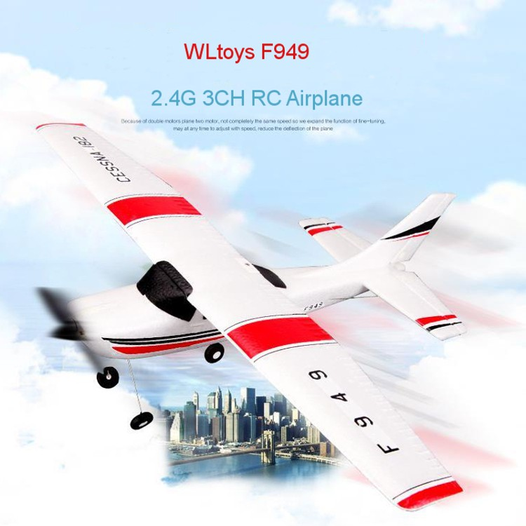 One Piece WLtoys F949 Cessna 182 2.4G 3CH EPP RC Plane Glider aviao de Remote Control Airplane Fixed Wing Drone Electronic Toy