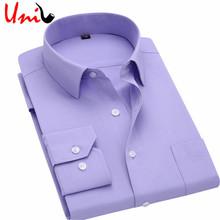 С длинным Рукавом Тонкий Мужчины Платье Рубашка 2016 Новая Мода дизайнер Высокое Качество Твердые Мужчины Одежда Fit Бизнес Рубашки 4XL YN045(China (Mainland))