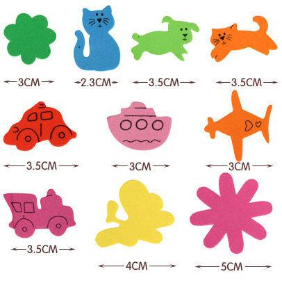 500PCS/LOT.vehicle animal flower foam stickers,Kids toy.Scrapbooking kit.Early educational DIY.Cheap.kindergarten craft(China (Mainland))