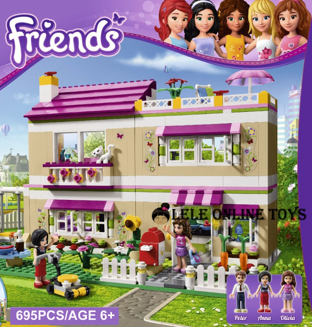 Гаджет  Super Large 695pc Building Blocks Set Compatible with lego Friends Series DIY House Model Brinquedos Bricks Toys for Girls None Игрушки и Хобби