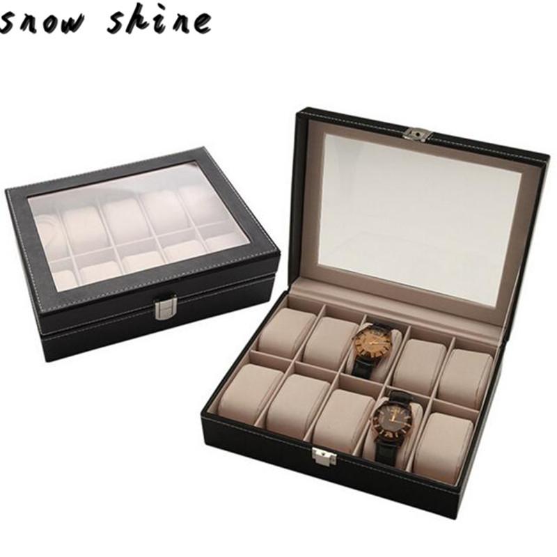 Snowshine #3001 Портативный Путешествия Случае Смотреть Ролл 10 Слотов Наручные Часы Ящик Для Хранения Путешествия Мешок бесплатная доставка оптовые