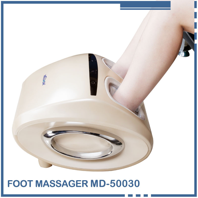 Medior MD-50030 New 360 Degree All-around Health Care Reflexology Far Infrared Magnetic Foot Massager Electric Roller Machine(China (Mainland))