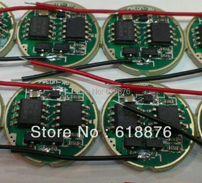 free shipping 10PCS DC 3.7V 16mm LED Driver for Cree P7/XML-T5/XML-T6 High Power LED Light(China (Mainland))