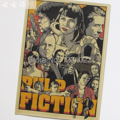 Sun86 Pulp Fiction movie Vintage Style Poster Wall Bar House Art Decoration Painting core Mix