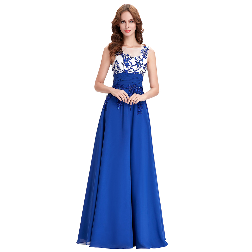 Cheap royal blue prom dresses 2016 grace karin sexy back for Royal blue wedding dresses cheap