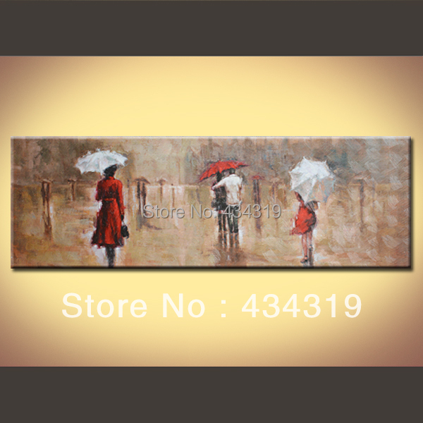 """Waiting rain"""" modern romantic abstract oil painting Canvas Prints home decoration wall art 16*48 - Betty gallery store"""