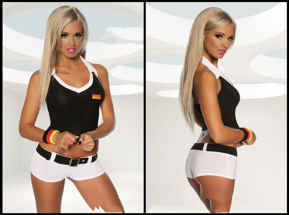 Free Shipping FOOTBALL OUTFIT FOR WOMEN PP1410 Sexy Costumes For Adults(China (Mainland))