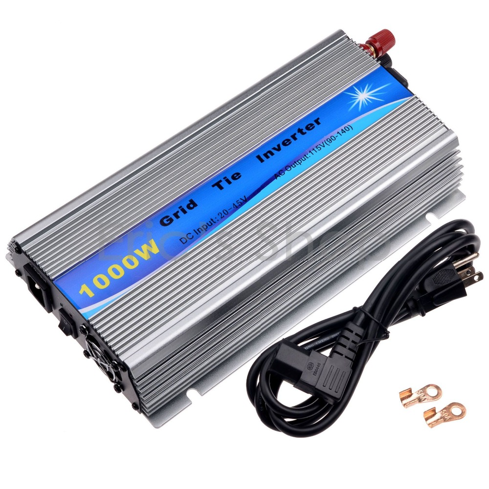 1000W Grid Tie Inverter DC20V-45V to AC110V Pure Sine Wave Inverter 24V/30V/36V For 60cells/72cells Panel With MPPT Function(China (Mainland))