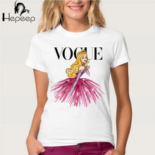 Buy VOGUE punk princess print T Shirt 2016 summer fashion women t-shirt funny Harajuku short sleeve casual tees lovrly tops for $6.39 in AliExpress store