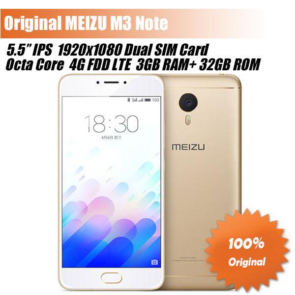 """Original MEIZU M3 Note 4G LTE Smartphone Meilan Note 3 Helio P10 Octa Core 5.5"""" 1080P 2/3GB RAM 16/32GB ROM 4100mAh Big Battery"""