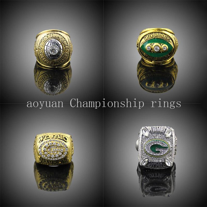 aoyuan championship rings,1966 1967 1996 2010 Green Bay Packers Super Bowl championship rings, sports fans rings(China (Mainland))