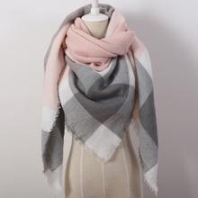 2016 Brand New Design Women's Fashion Scarf Top quality Blankets Soft Cashmere Winter warm Square Plaid Shawl Size 140cmx140cm(China (Mainland))