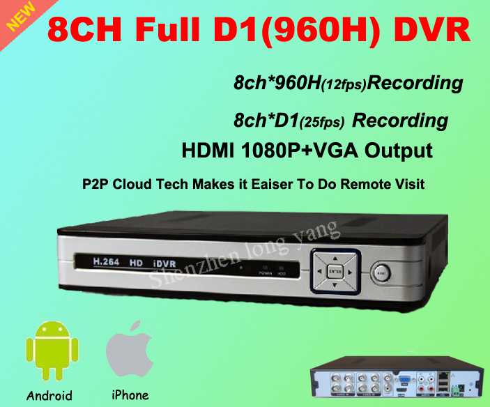 free shipping! CCTV 8CH Full D1 H.264 DVR Standalone Super DVR Security System 1080P HDMI Output DVR Recorder(China (Mainland))