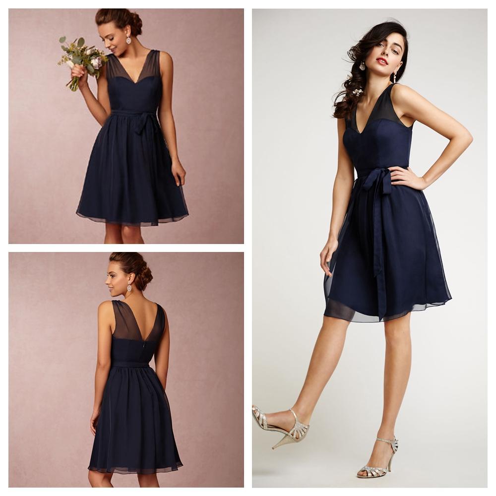 Short bridesmaid dresses navy blue plus size bridesmaids for Short wedding dress cheap