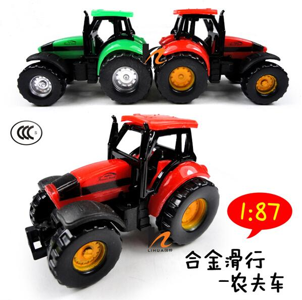 2015 Free shipping Alloy Glide farmer car children's toy model , Baby educational toys tractor scale models(China (Mainland))