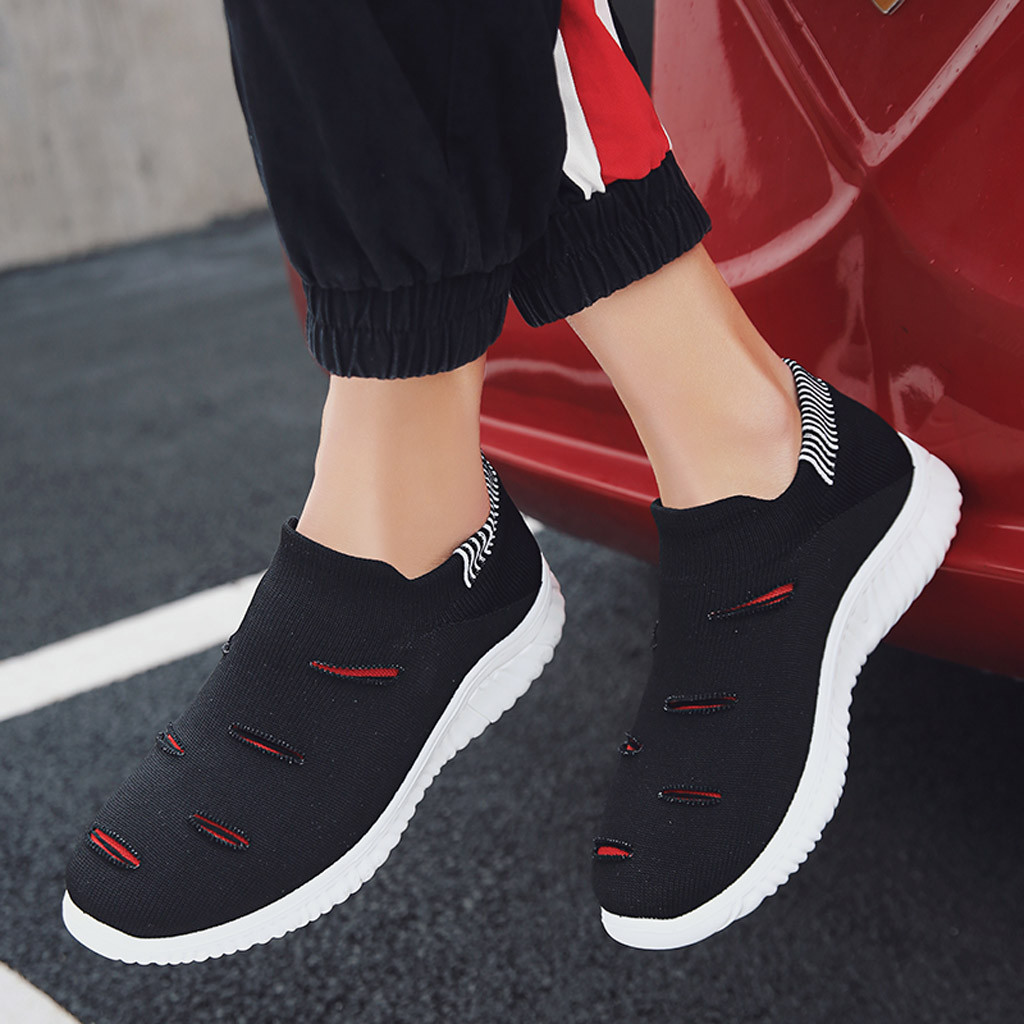 Shoes Men's Shoes Muqgew Hollow Out Solid Big Size Flats Sneakers Shoes New Arrival Casual Sets Of Feet Lightweight Outdoor Non-slip Sneaker Shoes