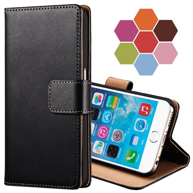"""Classic Leather Wallet With Stand Case For iPhone 6 6G 4.7 Inch Phone Bag Cover For iPhone 6 Plus 5.5"""" Fundas Coque Card Holder(China (Mainland))"""