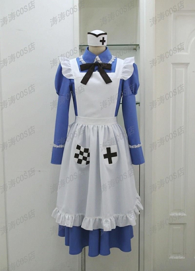 APH Axis Powers Hetalia Maid Hungary Cosplay  Hetalia Axis Powers Costume No mail
