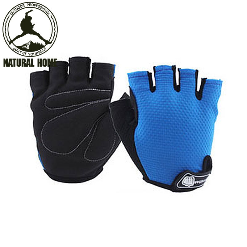 [NaturalHome] Brand Bicycle Gloves Half Finger Riding Racing Glove Gel Motorcycle Cycling Gloves Sportswear Guantes Ciclismo(China (Mainland))