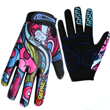 Qepae Adjustable Durable Screen Cycling Gloves Men Women Sports Full Finger Anti Slip Bike Gloves Shockproof Colorful(China (Mainland))