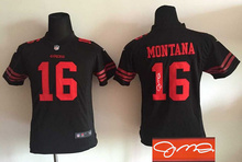 Signature youth San Francisco 49ers children 16 Joe Montana 42 Lott 80 Jerry Rice 82 Torrey Smith 81 Anquan Boldin,camouflage(China (Mainland))