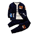 Newborn Children Clothing Set Infant Tracksuits Cartoon Bear Jacket T shirt Coat Sweatshirts Pants Baby Boys