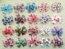 1pcs kid Baby Girl Minions Snow White Monster High princess littlest pet shop Doc Mcstuffins ribbon hair bow clip accessories(China (Mainland))