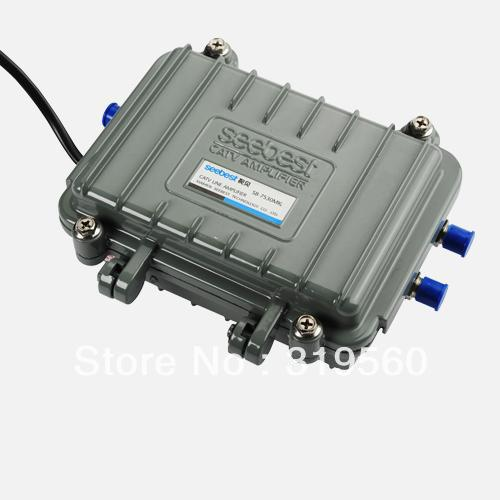 Seebest Cable TV Signal Amplifier Splitter Booster CATV trunk 2 Output 30DB SB-7530MK - Yian Technology Limited store