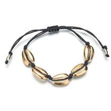 Jisensp Bohemian Summer Beach Shell Choker Necklace Simple Bead Seashell Necklace Fashion Jewelry for Women Girls Birthday Gift(China)