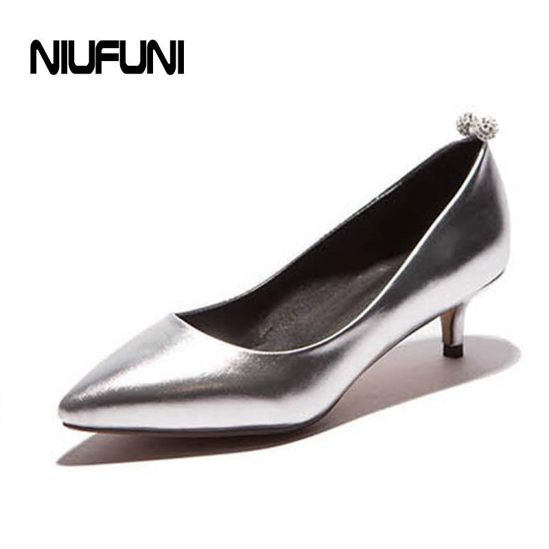 Online Get Cheap Silver Low Heels Aliexpress