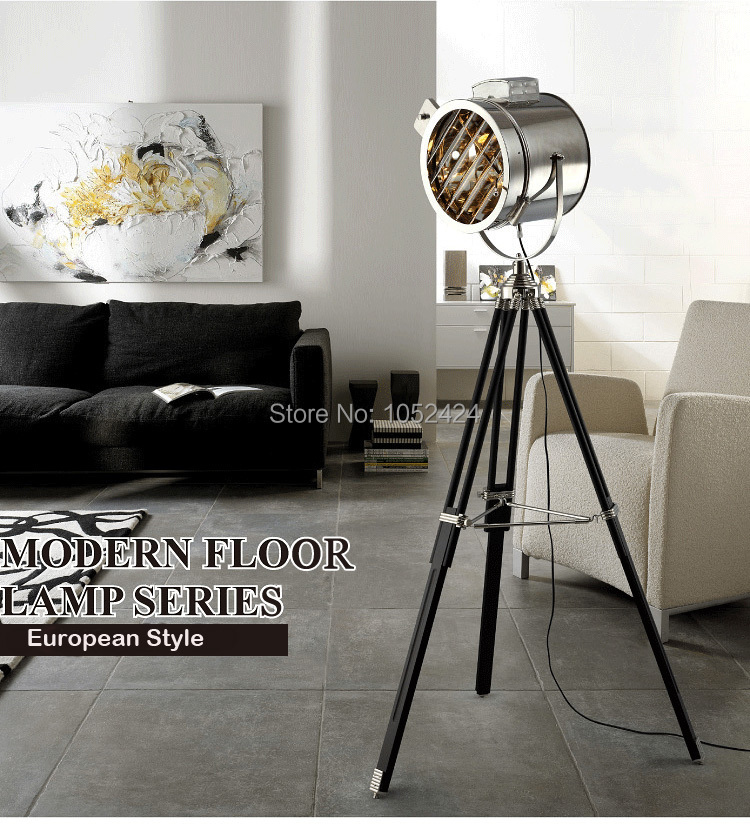 European Style Tripod Searchlight Lamp Living Room Bedroom Table Lamp Floor Lamp, 1 Light<br>