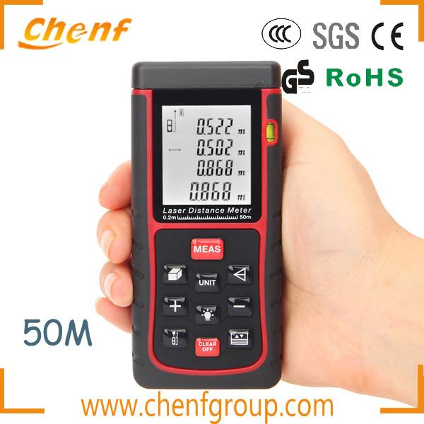 OEM Digital Laser Distance Meter Range Finder Measure Area Volume Bubble Level Measurer 50m/164ft Rangefinder - CHENF ELECTRIC GROUP LIMITED store