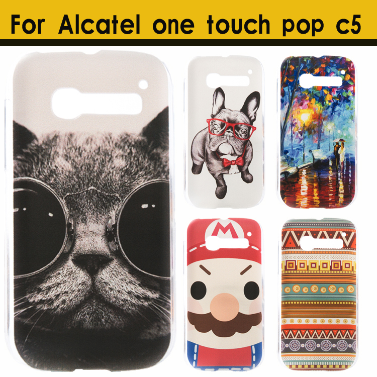 Гаджет  High Quality Ultra thin slim Painted Lovely Cartoon UV Print Hard Cover Case For Alcatel One Touch Pop C5 5036 OT5036 5036D Case None Телефоны и Телекоммуникации