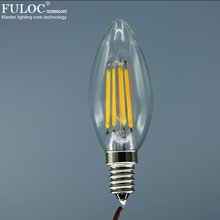 Buy Free Retro LED Filament light lamp E12 2w 4w 6w 110V/220V Clear Glass shell Vintage Chandelier Candle Led bulb for $12.00 in AliExpress store