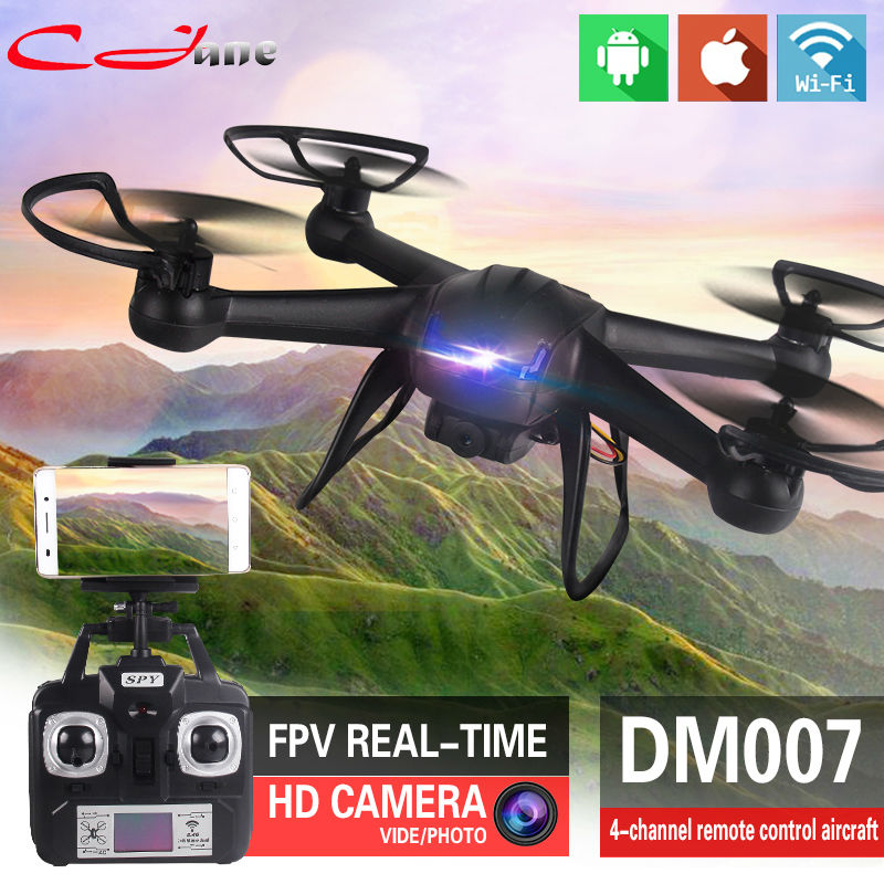 Free Shipping 2.4G Helicopter UAV DM007 DM007W RC Aerial Aircraft HD 2MP Pixel Camera WIFI FPV Four Axis Aircraft(China (Mainland))