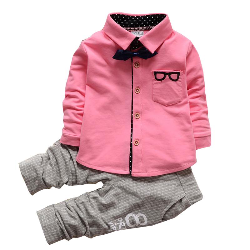 Kids Clothes Winter Long Sleeve T Shirt Pants Suit 2Pcs Set Baby Boys Suits Sets Gentleman Toddler Boy Birthday Dress Nice Plus Size Clothing