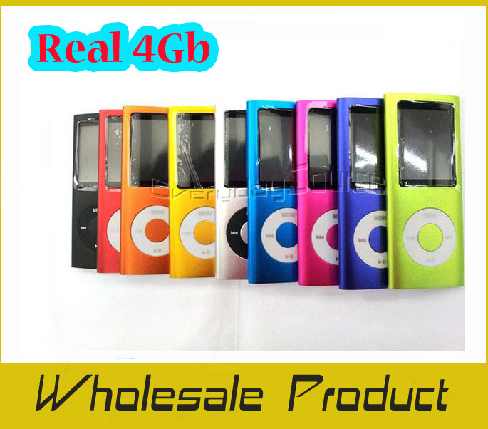 Quality Real 4GB 4th MP4 player, 1.8 Inch TFT screen Ebook FM Games 9 Color Optional With Crystal Box,100 PCS/LOT Wholesale(China (Mainland))