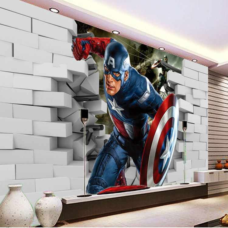 3d captain america wallpaper avengers photo wallpaper cool for Club joven mural