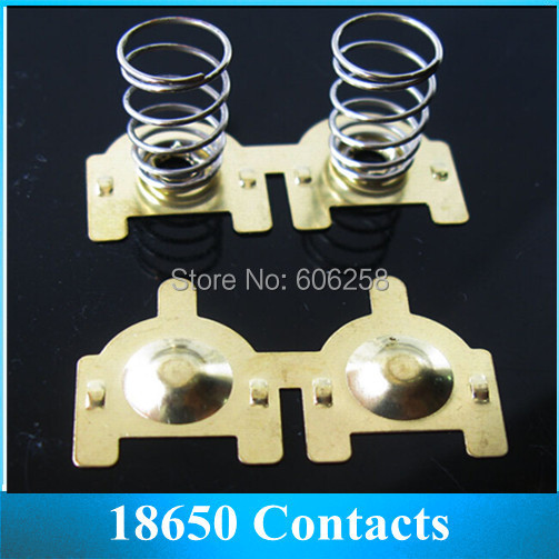 DIY Element Copper 18650 Battery Contact Piece , Anode / Negative Electrode Spring Contacts 10Pair(China (Mainland))