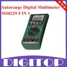 Ms8229 5 en 1 AUTORANGE multímetro DIGITAL con alarma envío gratis