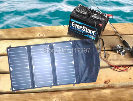 20 Watt Folding Solar Panel with 10 Amp Solar Controller 12V Car Boat Yacht Jetski Battery