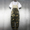 2016 The trend of fashion Camouflage bib pants male casual frock suspenders trousers outside lovers spaghetti