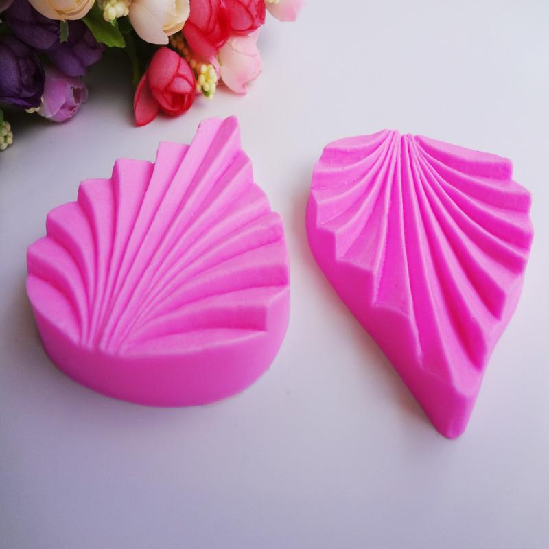 M204 10pcs Food Grade 3D Leaf Folder Flowers Shapes Fondant Mold Silicone Sugarcraft Cake Soap Candle Decorating DIY Mold Tools(Hong Kong)