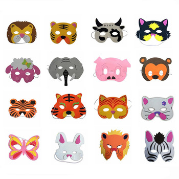 20 pcs/lot Beautiful EVA Animal Children Party Mask Child Christmas Halloween Masks children's party decoration Free Shipping