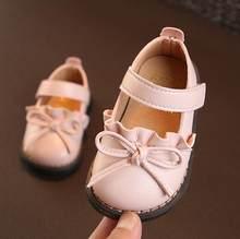 ילדי עור נעלי סתיו חדש חמוד לפרוע קשת נקבה תינוק רך תחתון נעליים פעוטה 0-1-3 תינוקות נסיכת נעליים בודדות(China)