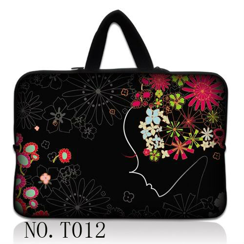 """Sunflower girl 10"""" 10.1"""" 10.2"""" Laptop Netbook Tablet PC Soft Sleeve Bag Case Cover +Hide Handle(China (Mainland))"""