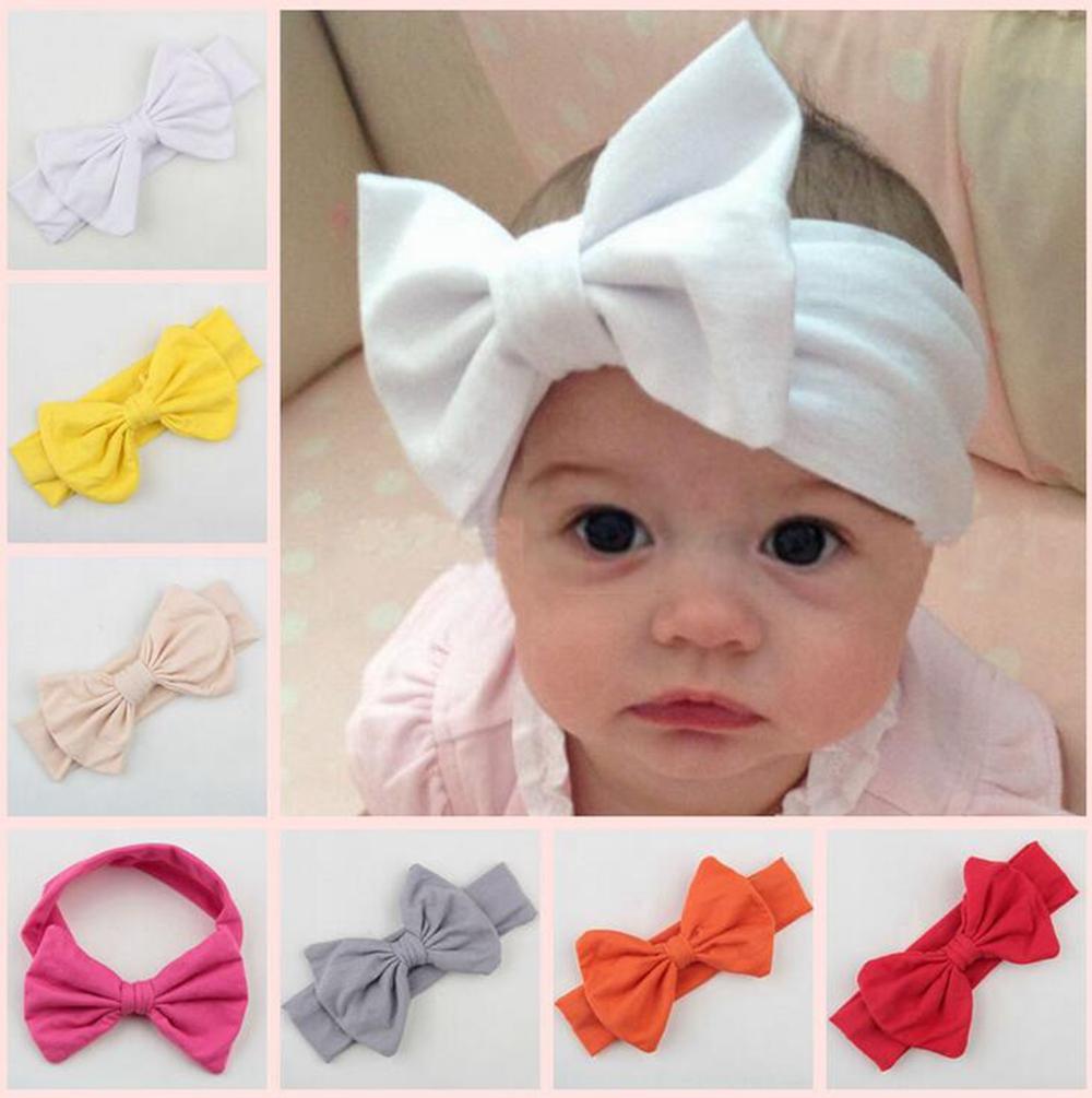 6 Inch New Arrived Baby Girls Turban Knot Tie hair Accessories Rabbit Bow Ear Hairband Headband KXBBC030(China (Mainland))