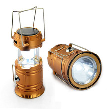 Camping Lantern LED Solar Rechargeable Camp Torch Light Flashlights Emergency Lamp Power Bank for Android Cell Phone IOS Iphone(China (Mainland))